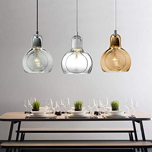 Lampadario Moderno, Vetro E27 Placcatura Semplice Personalità Creativa Illuminazione, Bar/Ristorante/Cucina/Soggiorno/Corridoio/Balcone [Classe Energetica A +]
