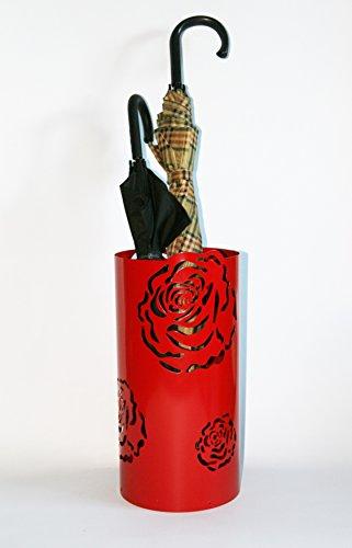Regenschirmständer Design Rose, 49 x Ø 22,5 cm, rot, Marke: Szagato, Made in Germany (Schirmständer, Schirmhalter, Regenschirmhalter)