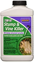 Bonide # 274 8 ounce, concentrated, vine & stump Killer Kills vines & stumps without harming desirable plants Keeps stumps from re-sprouting after cutting, effective & Economical Brush-top applicator makes applying easy & accurate This product cannot...