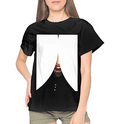 Sunyuer Frauen Death Grips Bottomless Pit Horror Bild Fashion Graphic Classic Kurzarm T-Shirt Daily Tops