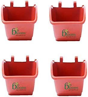 Bio Blooms Agro India Pvt. Ltd. Vertical Garden pots (M2 Model) Wall Hanging pots only Brown Color, 4 pots Bio_152TA