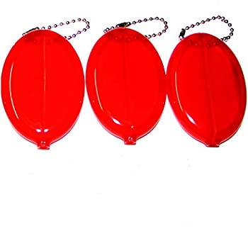 3 Red Coin Purses   Multi-Purpose Holds Keys & Small items   Made in USA