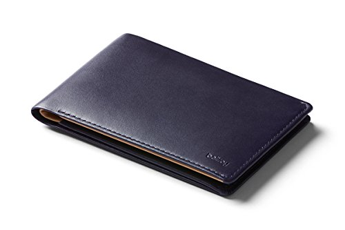 Bellroy Leather Travel Wallet (Passport Holder, RFID Protected, Travel Document Organizer, Travel Pen) - Navy