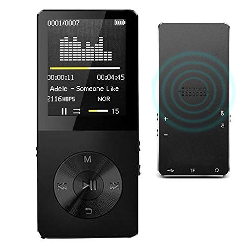 MP3 Player / MP4 Player, Hotechs MP3 Music Player with 32GB Memory SD Card Slim Classic Digital LCD 1.82 Screen Mini USB Port with FM Radio, Voice Record