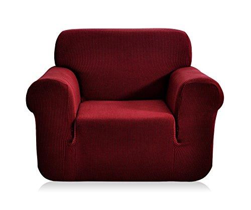 E EBETA Elastisch Sofa Überwürfe Sofabezug, Stretch Sofahusse Sofa Abdeckung Hussen für Sofa, Couch, Sessel 1 Sitzer (Weinrot, 85-115 cm)