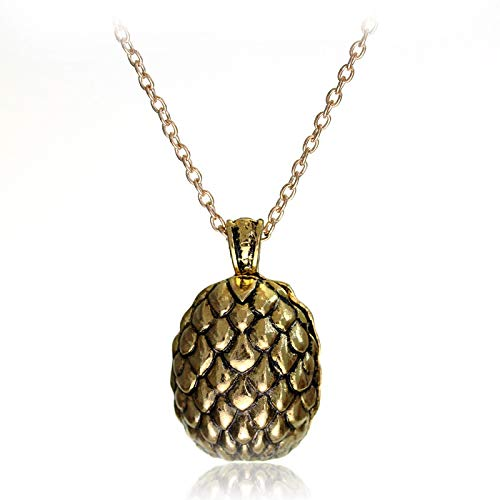 WYFLL Collier avec pendentif œuf de dragon Game of Thrones « A Song of Ice and Fire »