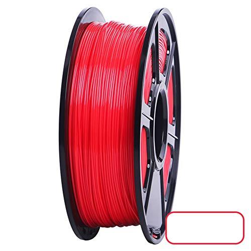 3D Printer PLA Filament 1.75mm Filament Dimensional Accuracy +/-0.02mm 2.2LBS 3D Printing Material for RepRap(red)