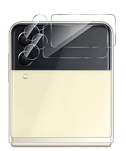 GIOPUEY Kamera Schutzfolie Kompatibel mit Samsung Galaxy Z Flip 3, [2 Stück] 3D Panzerglas [Kratzfest][Beeinträchtigt die Bildgebung Nicht] Kamera Panzerglas für Samsung Galaxy Z Flip 3