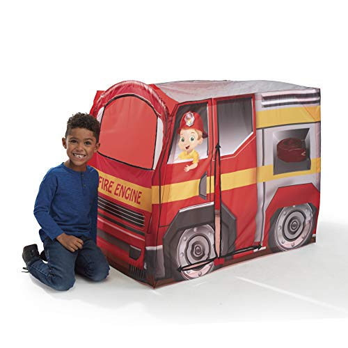 Playhut Fire Engine EZ Vehicle Pop-Up Play Tent – Easy Pop-Up and Fold Down with Multiple Doors and Windows, Durable Materials