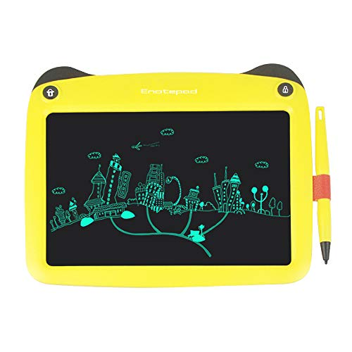 Aibecy Bloc de notas Tableta de escritura LCD de 9 pulgadas Tablero de dibujo de gráficos electrónicos ultrafino Lindo bloc de escritura a mano con lápiz óptico Botón de bloqueo de borrado