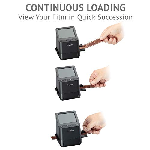 Ivation High Resolution 23MP Film Scanner Converts 135, 110, 126, Black and White,...