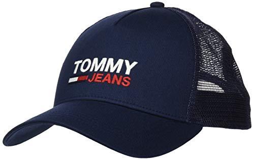 Tommy Jeans TJM Flag Trucker Gorro/Sombrero, Azul Marino (Twilight Navy), Talla única para Hombre