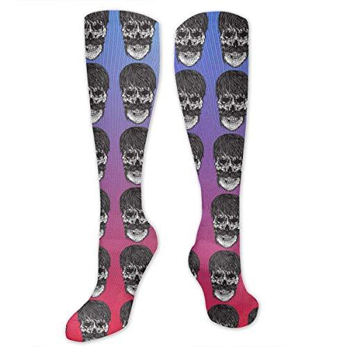 ouyjian Medias hasta la Rodilla Calcetines de compresión del cráneo Calcetines Deportivos Calcetines Deportivos Calcetines Largos Calcetines Graciosos