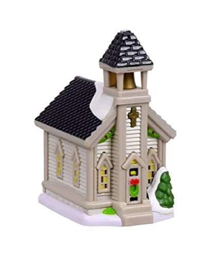Cobblestone Corners Church Decorative Building Miniature Christmas Village Collection