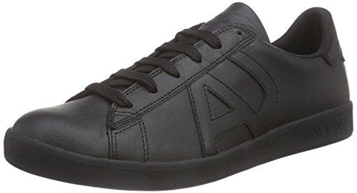 Armani Jeans, 06565YO, Herren Sneakers, Schwarz (NERO - BLACK 12), 40 EU