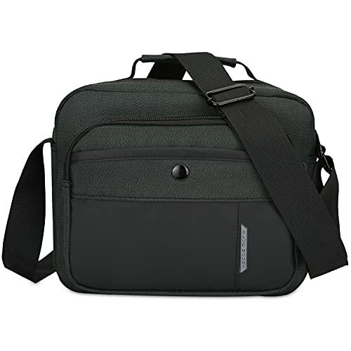 CX&LL Bolso bandolera para hombre con correa deportiva, bolso bandolera, bolso de hombro, casual, trabajo, viajes, para trabajo y escuela, negro