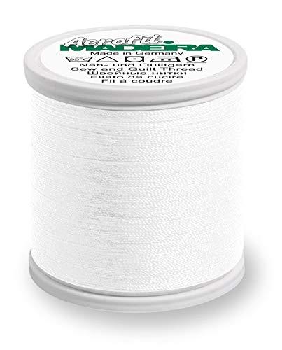 MADEIRA 9126-8010 Näh- und Quiltgarn, 2-lagig, Polyester, 120 W, Weiß