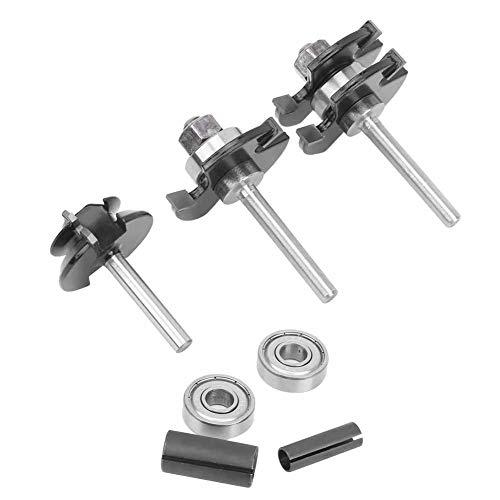 Shank Lock Miter Router Bit, 45° Shank Lock Miter Router Bit 7Pcs Hard Alloy Woodworking Drill Cutting Tool Industrial Supply