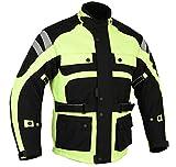 Australian Bikers Gear UK Infinity Thermo-Motorradjacke hochsichtbar - Wasserdicht & belüftet - Protektoren - M