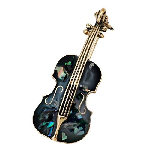 Zonfer 1pc Cello Brosche Legierung Brosche Mode-Frauen-mädchen-Kragen-pin Kreative Mantel Handtasche Dekoration Pin Für Hochzeit Schmuck Mädchen