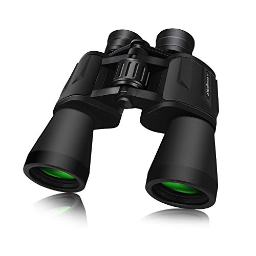 SkyGenius 10 x 50 Powerful Binoculars for Adults Durable Full-Size Clear Binoculars for Bird Watching Travel Sightseeing Hunting...
