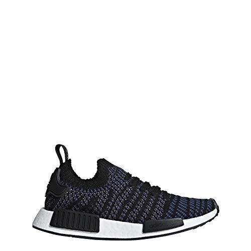 adidas Originals Women's NMD_R1 STLT PK Running Shoe, Black/ash pink/nobile Indigo, 7.5 M US
