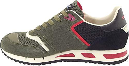Blauer Scarpe Sneaker Running MOD. Memphis in Suede/Tessuto Mesh Military Green Uomo US19BU06