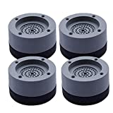 Piedini per lavatrice, Piedini per lavatrice antivibrazione, Antivibrazioni Supporto per Piedini Anti-Camminata, Ammortizzatore Vibrazione per Lavatrice in Gomma
