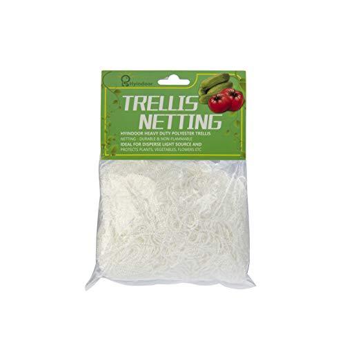 Hyindoor Treillis Filet de polyester haute résistance, Filet maille blanche douce de 6,75㎡ dans le jardinage, filet pour tente de culture (1,5 mx 4,5 m)