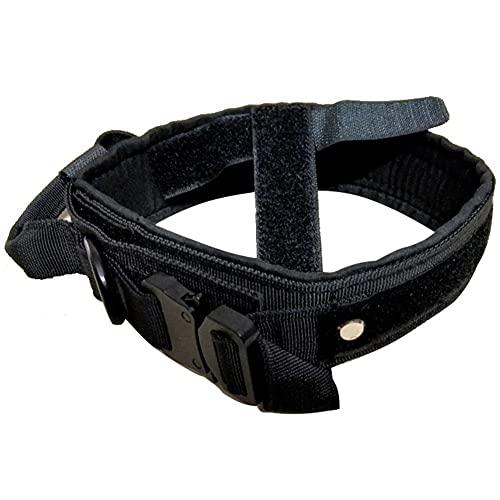 Tuimiyisou Collar De Perro De Servicio Pesado Collar De Nylon Ajustable con Hebilla De Metal para El Entrenamiento del Perro Negro M