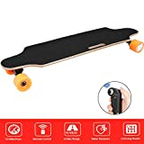 Aceshin Electric Skateboard Longboard with Remote Small for Kids Teens, 250W Motor, 12 MPH Top Speed (E-Orange(Longboards))
