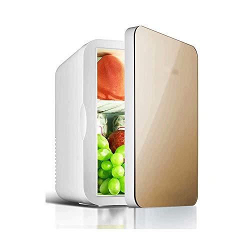 DKBE Mini frigorífico refrigerador caliente   Capacidad: 6 l   Compacto, portátil y silencioso   Compatibilidad de alimentación CA + CC 26,5 x 25 x 19 cm