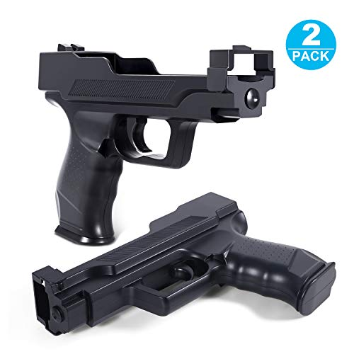 NioTech Wii Motion Plus Gun Compatible with Nintendo Wii (Black Set of 2)