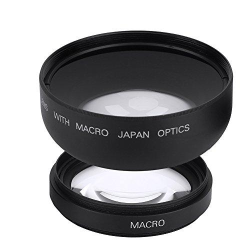 Vbestlife 52mm 0.45X Grandangolo Obiettivo di conversione Universale Macro per Fotocamera Canon Nikon Sony