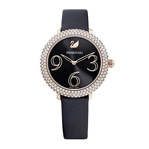 Reloj Swarovski 5484058 Crystal Frost LS Blk/Blk/Pro, Negro con Brillantes