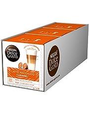 Nescafé Dolce Gusto Caramel Latte Macchiato, 3 Pakken, 3 x 16 Capsules (24 kopjes)