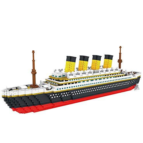 Bloques de construcción 3800 Uds Bloques Modelo De Barco De Crucero Titanic Modelo De Barco Diy Ensamblar Bloques De Construcción Juguetes Clásicos De Ladrillo Regalo De Navidad Para Niños