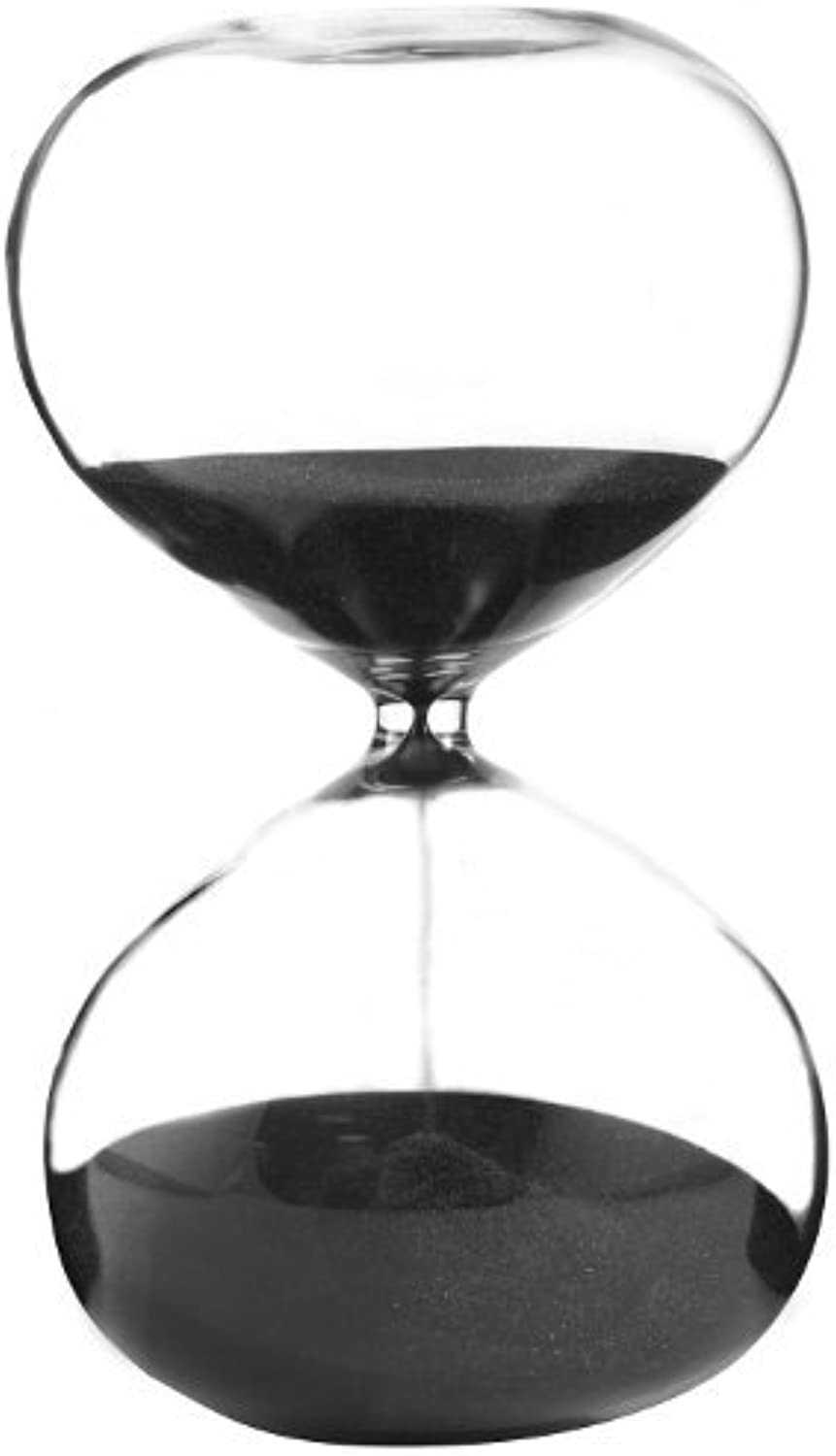 Hourglass Sand Timer - 60 Minute Black Sand, 6.25