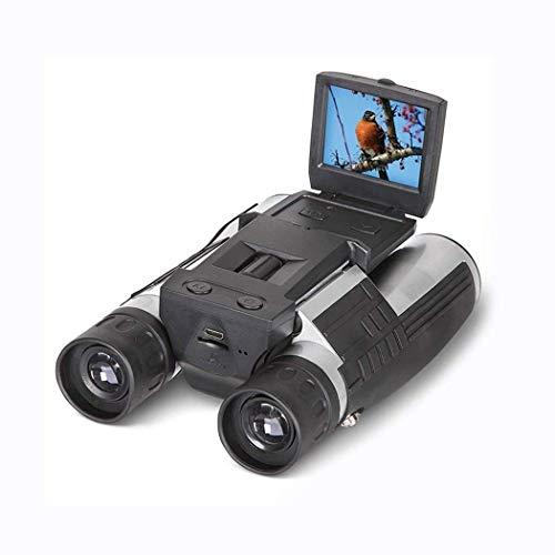 GYTOO Cámara Digital Binocular FHD de 2 '', videocámara grabadora de Video 12x32 5MP - Telescopio con Pantalla LCD HD 1080p para Mirar, Cazar y espiar