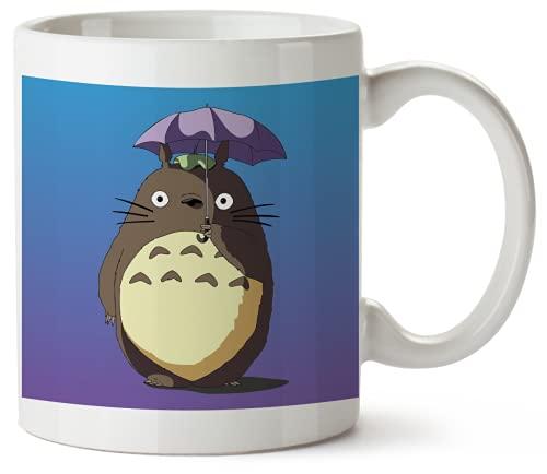 Totoro With Umbrella TTO1 Funny Mug 325ml Coffee Tea Funny Novelty Mug Ceramic White Great Gift Idea Meme Cup