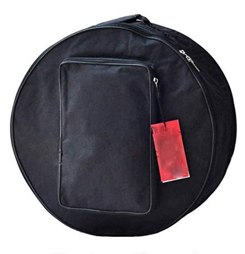 Tambourine Bag/Snare Drum Bag/Drum Bag with Shoulder Strap/Tambourine Storage Case/Percussion Instruments Accessories (black)
