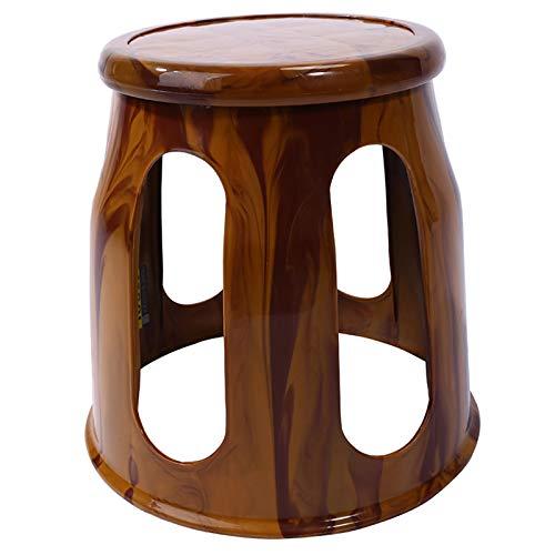 WWDZ Taburete de baño Taburete de Madera de imitación de Moda Taburete de Mesa de Comedor Creativo Taburete de Ocio Antideslizante Taburete de baño Engrosado (12.6'x12.6'x10.43',Wood Grain Color)
