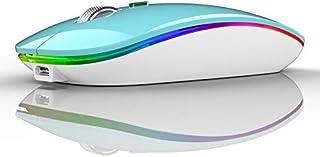 Coener M12 Ratón Inalámbrico Bluetooth, 2,4 GHz con Receptor Silencioso Dual Models Portátil Mouse con 3 Niveles de Adjust...