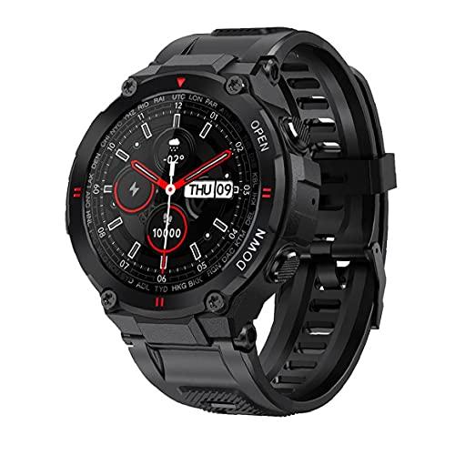 Reloj Elegante Sraeriot Reloj Deportivo a Prueba De Agua Con Ritmo Cardíaco Rastreador De Ejercicios Llamada Bluetooth De Pantalla Táctil Completa Para Android Ios Negro