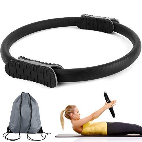 Mture Pilates Ring, Pilates Circle Rutschfester & Superleichter Doppelgriff Pilates Yoga Rings, Fiberglas, Schaumstoff Exercise Ringe ür Fettverbrennung, Core-Training, Oberschenkeltrainer, Ø 38cm