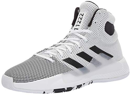 adidas Men's Pro Bounce Madness 2019, White/Black/Solar red, 9.5 M US