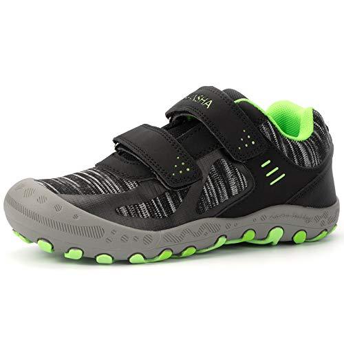 Mishansha Zapatos de Deportivo para Niños Niñas Transpirable Zapatillas de Senderismo Antideslizante Zapatos de Running Casual Outdoor, Negro, 29 EU