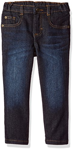 Wrangler Authentics Toddler Boys' Skinny Jean, dark wash, 3T