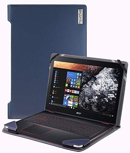 Broonel - Serie de perfiles - Estuche para De Cuero Azul - Compatible con La Lenovo (15.6 Inch HD) Notebook (AMD A4-9125 2x2.6 GHz