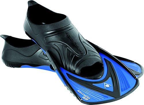 Aqua Sphere Microfin HP Schwimmen Training Fin Trainingsflossen, schwarz/Blau, 44/45